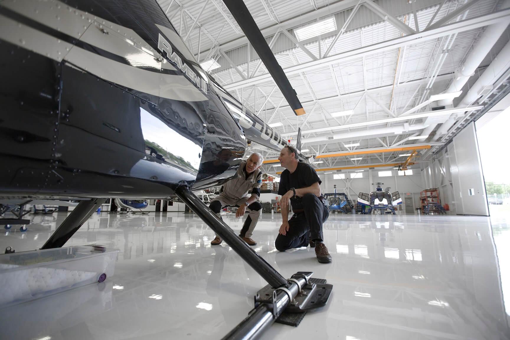 révision hélicoptère