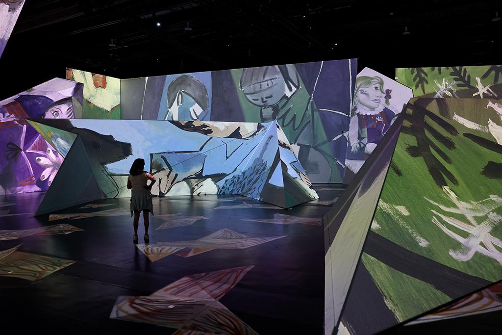 L'une des œuvres de Picasso de l'exposition immersive Imagine Picasso présentée au Centre des Congrès de Québec.